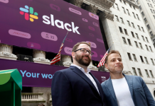 Slack stock is down 12% after its first-ever profits as a public business, in which it published a huge loss– consisting of $8 million in credits to consumers after interruptions (WORK)