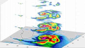 Tiny NASA satellite gets interesting 3D peek inside Typhoon Dorian