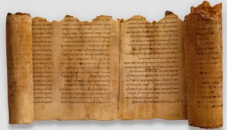 The longest Dead Sea Scroll sports a salt surface that the others do not have