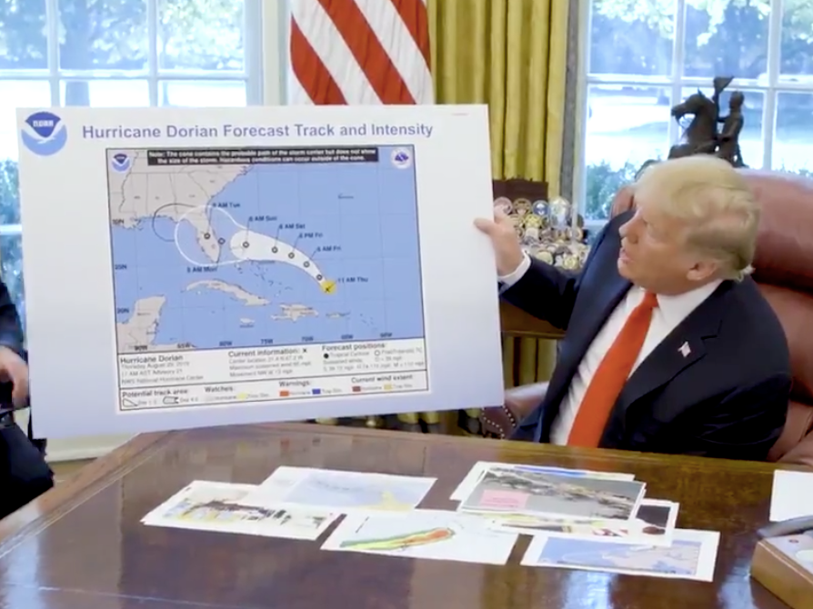NOAA protects Trump's claims about Typhoon Dorian and Alabama, one day after he apparently personally directed a Coast Guard admiral to back him up