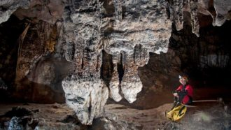 Ancient crystal developments in caverns expose seas increased 16 meters in a warmer world