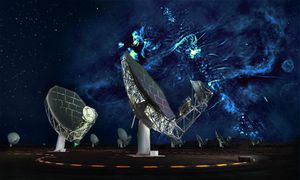 Enormous radio-emitting bubbles found at the center of our galaxy