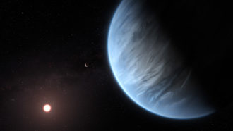 This might be the very first recognized exoplanet with rain and clouds of water beads