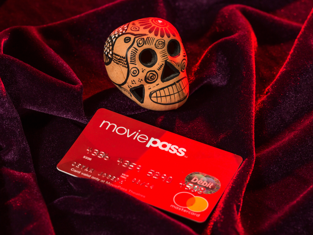 MoviePass' moms and dad business is aiming to offer it and Moviefone, as it continues to cut personnel