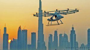Enjoy the Volocopter air taxi make its launching metropolitan flight video