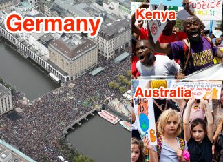 Pictures reveal big climate-change demonstrations all over the world, which have actually spread out throughout continents as millions strike to require action