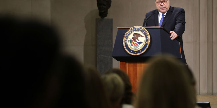 DOJ apparently releases its own Facebook probe at AG Barr's advising