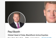 BlackRock's worldwide head of active equities information has actually left the $6.9 trillion possession supervisor