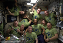 A cute image reveals 9 astronauts and cosmonauts hanging out in the International Spaceport Station. Here's why the orbiting laboratory is so crowded.