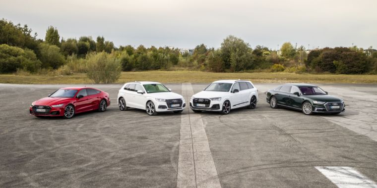 On the roadway with Audi's brand-new Q5 and A8 TFSI e plug-in hybrids