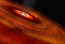 Astronomers identify massive gas waterfalls produced by concealed, infant worlds