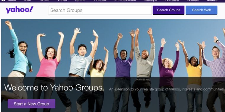 Yahoo is erasing all material ever published to Yahoo Groups
