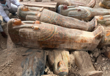 Archaeologists simply discovered 20 ancient caskets in Egypt with their initial colors and carvings undamaged
