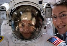 2 ladies finished a seven-hour spacewalk on Friday