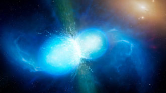 Strontium is the very first heavy component found from a neutron star merger