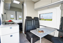 Ford's 'Big Nugget' is a small house developed inside a Transit freight van– see inside the 4-' space' lorry