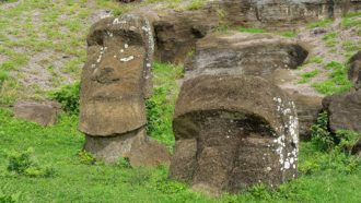 Quarrying stone for Easter Island statues made soil more fertile for farming
