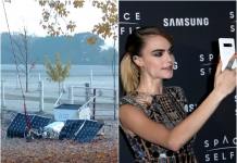 Samsung's 'Area Selfie' satellite made a crash landing on a Michigan couple's residential or commercial property
