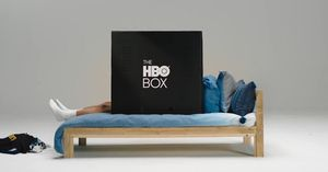 HBO made a huge cardboard box where you can conceal and enjoy TELEVISION, alone
