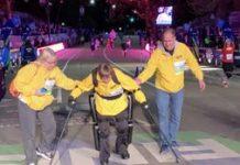 Exoskeleton helps paralyzed US veteran cross NYC Marathon end line
