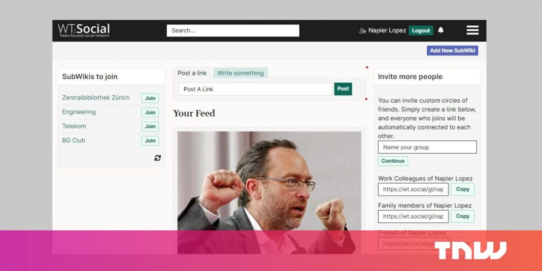 Wikipedia's co-founder handles Facebook with ad-free social media