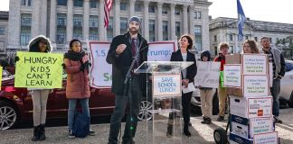 Activists Demonstration USDA Modifications That Threaten Free School Lunch