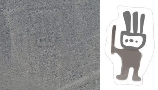 An AI discovered a concealed Nazca Line in Peru revealing a humanoid figure