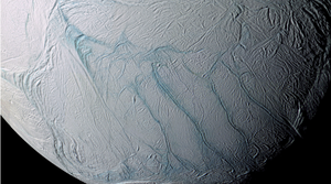 Mysterious, parallel cracks on Saturn's ice moon finally explained