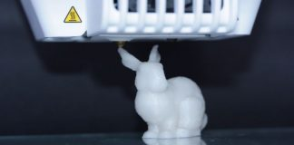 This 3D-printed Stanford bunny also holds the data for its own reproduction