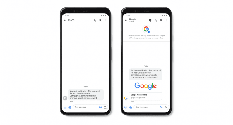 Google brings Verified SMS to curb spam in Android Messages