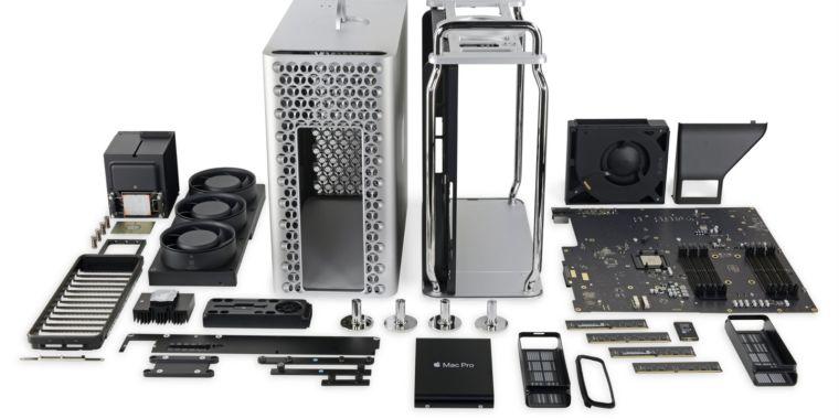 Mac Pro teardown finds a largely traditional desktop inside