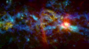 NASA spots cosmic 'candy cane' near heart of the Milky Way