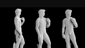 See Michelangelo's David as a super-tiny 3D-printed sculpture