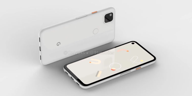 Early Pixel 4a renders somehow look better than the more premium Pixel 4