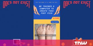Text this number for an infinite feed of AI-generated feet