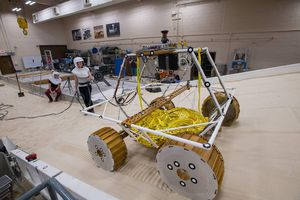 See NASA's new lunar rover test out its 'moon shimmy' on Earth