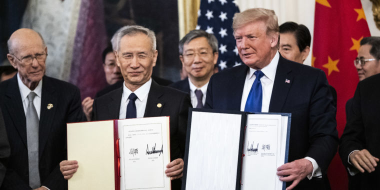 Trump, China sign new trade deal staving off impending tech tariffs