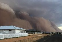 Incredible images show huge dust storm blanketing Australian towns