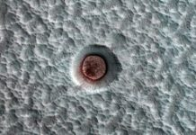 NASA watched the ice in this Mars crater dance over a dozen years