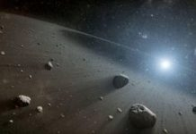 An asteroid traveled from beyond Mars to explode over Earth