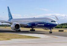 Watch Boeing 777X take off on first test flight