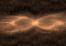 Images obtained of two stars in the process of a merger
