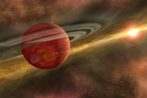 Scientists discover 'baby giant planet' cosmically close to Earth