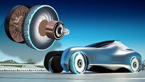 Goodyear's concept ReCharge tire would never get a flat video