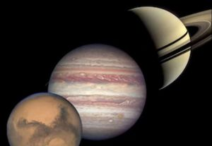 See a pre-dawn lineup of Jupiter, Mars, Saturn and the 'pink moon' this week