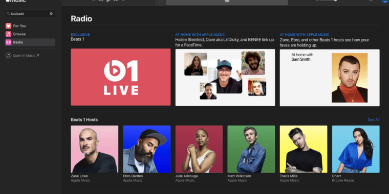 The Web-based version of Apple Music has officially launched