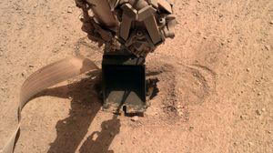 NASA InSight lander finally pushes its burrowing 'mole' into Mars