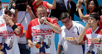 Competitive hot dog eaters may be nearing humans' max eating speed