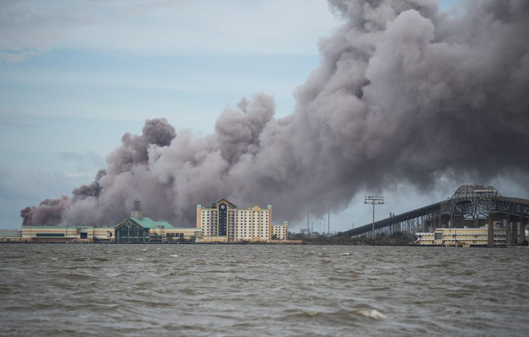 Fire At Chlorine Chemical Plant After Hurricane Laura Shreds Lake Charles Area