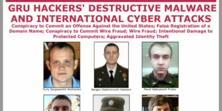 Six Russians accused of the world's most destructive hacks indicted